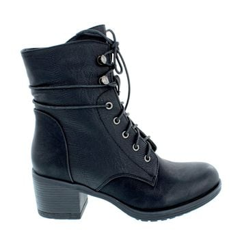 Reptile Lace Up Combat Boot
