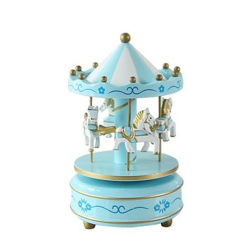 Vintage Merry-Go-Round Carousel Horse Music Box For Kids Birthday Wedding Gift Toy Home Desk Decor VBQ35