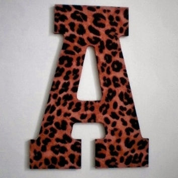 ANIMAL PRINT LETTERS - Large Decorative Cheetah Print Wall Letters, Initials or Words - 13 inch