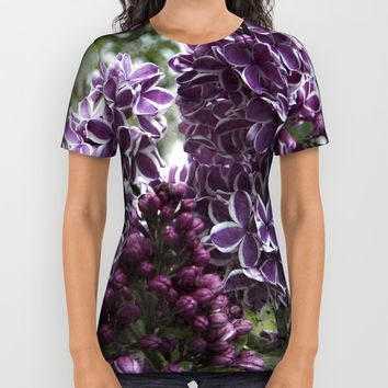 Lilac flowers All Over Print Shirt by VanessaGF