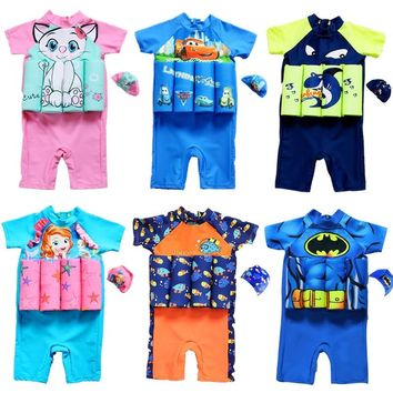 Kids Swimwear For Girls Swimming Suit Junior Swimsuit Bathing Suits 2018 Boys Drying Aids Children Floating Rayon Animal Sierra