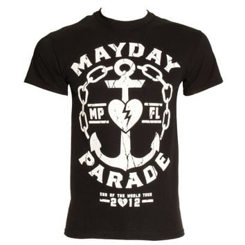 MAYDAY PARADE ANCHOR T SHIRT (BLACK)
