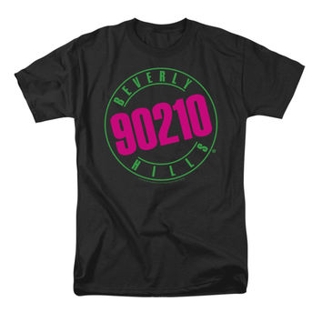 90210 Men's  Neon T-shirt Black Rockabilia