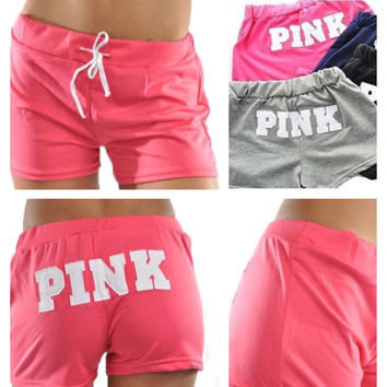 "In Style ""Pink"" Lounge Shorts by Anemone'"