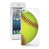 Apple iPhone 4 4S 4G White 4W845 Hard Back Case Cover Color Close Up Softball