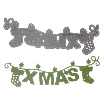 Kids Cutting Dies Stencil Christmas Home Decoration Toys