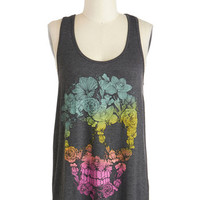 ModCloth Travel Mid-length Tank top (2 thick straps) Brainy Bouquet Top
