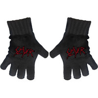 Slayer Knit Gloves Black