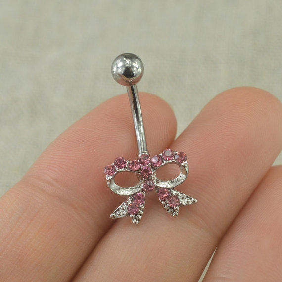 belly button rings litte bow belly button from