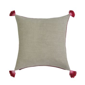 REVERSIBLE Square Pillow Covers - RED & TAN