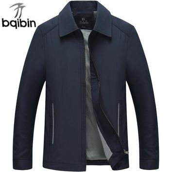 Trendy Men's Jackets 2018 Spring Autumn Casual Thin Cotton Windbreaker College Stand Collar Coat Homme Varsity Jacket 3XL Plus Size AT_94_13