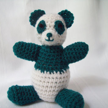 Handmade Panda Bear Toy, Crochet Panda Bear, Amigurumi Panda Bear, Stuffed Animal