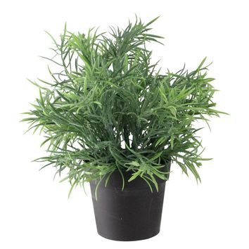"""9.5"""" Potted Grass with Brown Vase Table Top Decoration"""