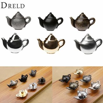 Teapot Antique Furniture Knobs Alloy Drawer Door Closet Cupboard Pull Handle Cabinet Knobs And Handles Accessories For Furniture