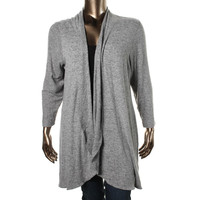 Nally & Millie Womens Plus Knit Open Front Cardigan Sweater