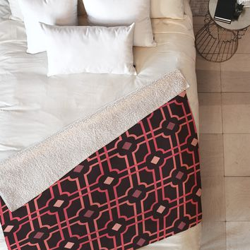 Caroline Okun Autumn Lattice Fleece Throw Blanket