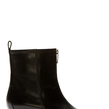 Maiyet Black Metal Heel Ankle Boots