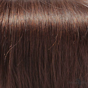 """21"""" Clip In Remy Hair Extensions: Dark Brown No. 3"""