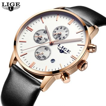 LIGE Men Military Sport Watch
