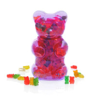 Dylan's Candy Bar Filled Gummy Bear Container – Purple | Dylan's Candy Bar