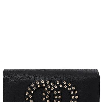 Embellished Purse in Black