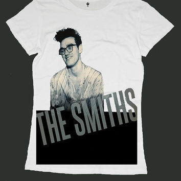 MORRISSEY the smiths screen print women t shirt ety106w