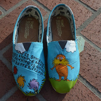 Handpainted Lorax TOMS by creatorscircle on Etsy