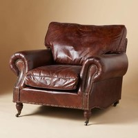 DUSTIN LEATHER CHAIR  Sundance Catalog