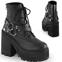 Demonia Assault Strap Vegan Leather Boots