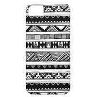 Trendy Black White Aztec Tribal Geometric Pattern iPhone 5 Cover