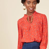 Rustic Radiance Top in Floral | Mod Retro Vintage Short Sleeve Shirts | ModCloth.com
