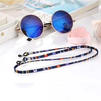 New Eyeglass sunglasses cotton neck string cord retainer strap eyewear lanyard holder with good silicone loop