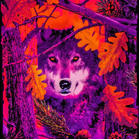 Opticz - Autumn Wolf - Black Light Poster