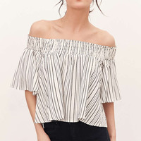 Kimchi Blue Smocked Off-The-Shoulder Top - Urban Outfitters