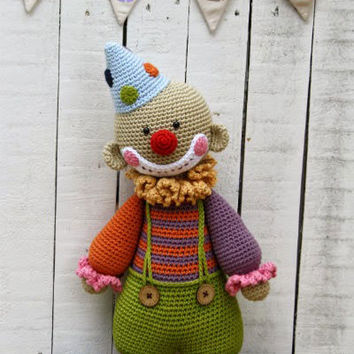 Buy Chatterbox the clown amigurumi pattern - AmigurumiPatterns.net
