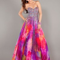 Strapless Sweetheart Sequin Bodice Formal Prom Dress By Jovani 6757
