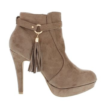 Fancy Tassel Bootie (TAUPE)