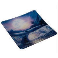 Whale Breaching In Moonlight Decorative Plate