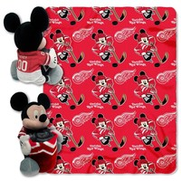 Detroit Red Wings NHL Mickey Mouse with Throw Combo