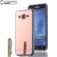 Cenmaso Cases For Samsung Galaxy J7 Luxury Mirror Soft Case Plating TPU Protection Back Cover For Samsung J7 Mobile Phone Shell