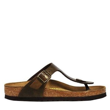 VONEUF Birkenstock Gizeh Birko-Flor Women's - Golden Brown