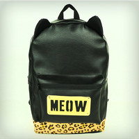 Meow Metal Plate Backpack