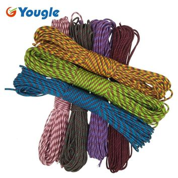 YOUGLE Paracord 550lb Parachute Cord Lanyard Rope Mil Spec Type III 7 Strand 100FT 31m Camping equipment Climbing rope 116-122