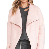 Lovers + Friends Merci Coat in Pink