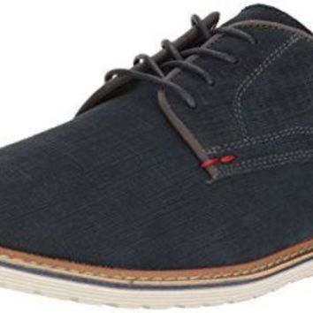 ONETOW Steve Madden Men's Easel Oxford, Navy Suede, 11.5 M US