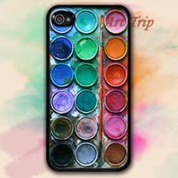 iPhone 4 Case, iphone 4s case -- Watercolor paint set iPhone 4 Case, graphic iphone 4 case, iphone case