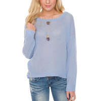 Joleen Knit Top - Light Blue