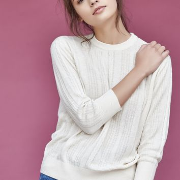 CALLAHAN | Cable-Knit Everyday Sweater - Creme