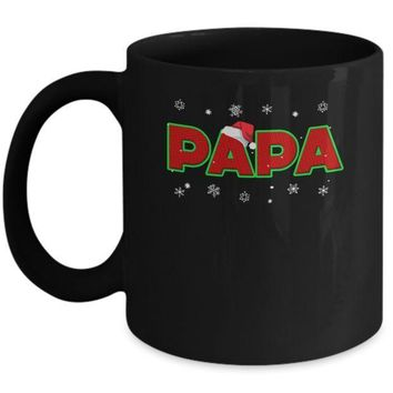 Papa Christmas Santa Ugly Sweater Gift Mug