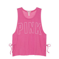 Super Soft Side Tie Tank - PINK - Victoria's Secret
